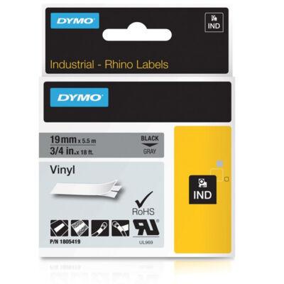 ID1-es PVC szalag 19mmx5,5m fekete/szürke