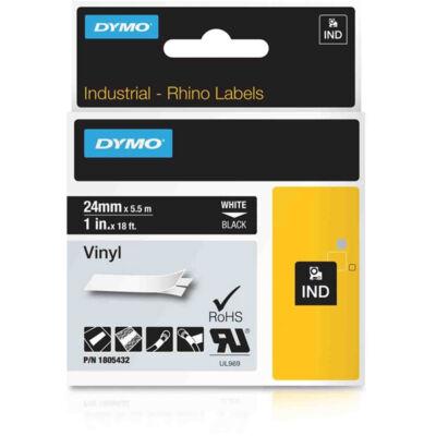 ID1 PVC szalag 24mmx5,5, fehér/fekete