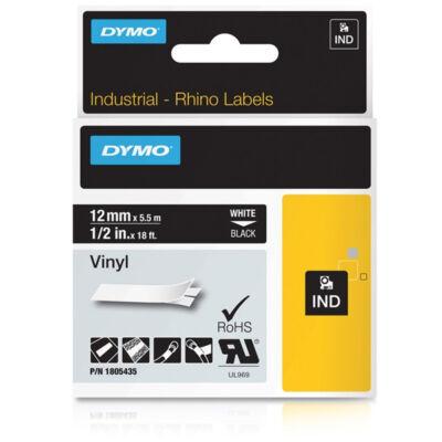 ID1-es PVC szalag 12mmx5,5m fehér/fekete
