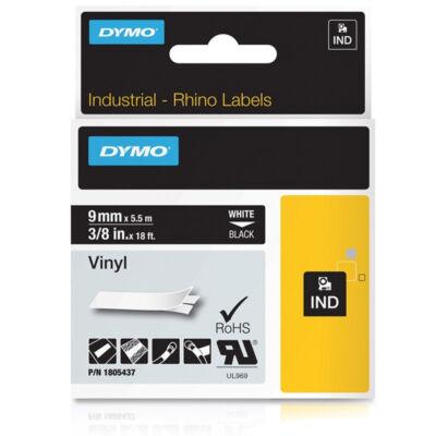ID1-es PVC szalag 9mmx5,5m fehér/fekete