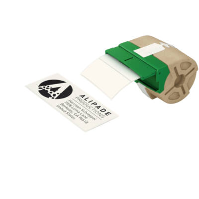 ICON címketekercs, stancolt, 36mmx88mm, öntapadós papír, fehér (600db)