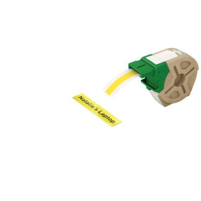 ICON címketekercs folyamatos műanyag, 12mm öntapadós sárga(10m)
