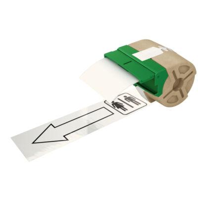 ICON címketekercs, folyamatos 88mm műanyag öntapadós, fehér (10m)