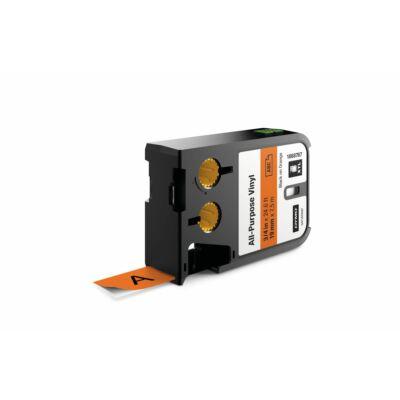 XTL kazetta 19 mm x 7 m vinyl fekete/narancs
