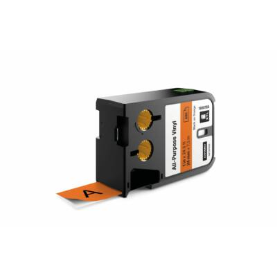XTL kazetta 24 mm x 7 m vinyl fekete/narancs