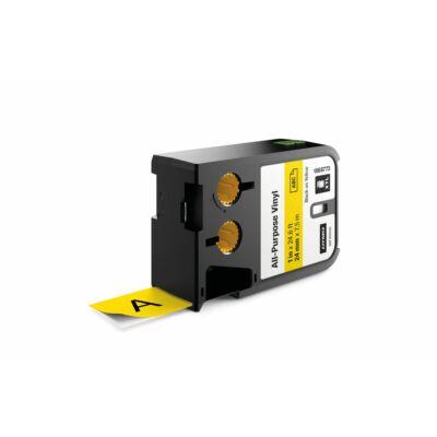 XTL kazetta 24 mm x 7 m vinyl fekete/sárga