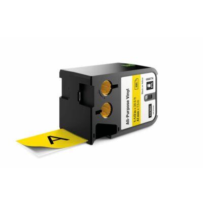 XTL kazetta 41 mm x  7 m vinyl fekete/sárga