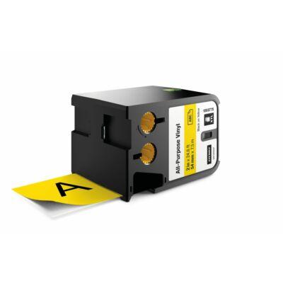 XTL kazetta 54 mm x 7 m vinyl fekete/sárga