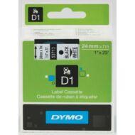 Dymo D1 kazetta, 24mmx7m, fekete/fehér (53713)