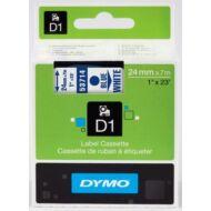Dymo D1 kazetta 24mmx7m kék/fehér (53714)