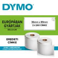 Dymo címetikett 99012, 89mmx36mm (520db/doboz)