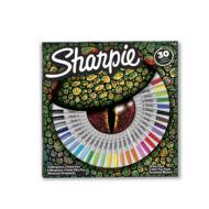 SHARPIE FINE PERMANENT MARKER KÉSZLET 30DB, alkalmas íráshoz és kreatív munkákhoz szinte minden felületre használható fotópapírra, hullámkartonra, fára, fémre, kőre, műanyagra, bőrre tartós hegy színtartó és vízálló festék alapú tintával töltve