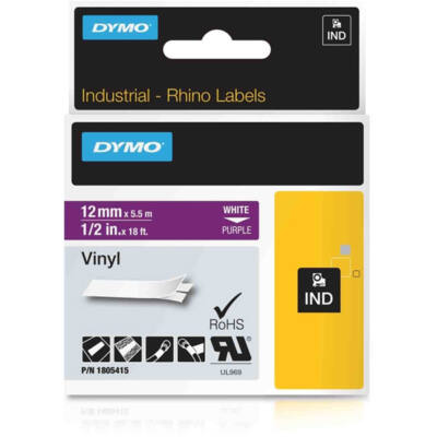 ID1-es PVC szalag 12mmx5,5m fehér/lila