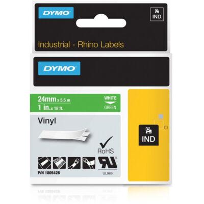 ID1 PVC szalag 24mmx5,5, fehér/zöld