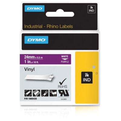 ID1 PVC szalag 24mmx5,5, fehér/lila
