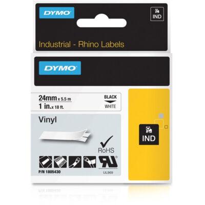 ID1 PVC szalag 24mmx5,5, fekete/fehér