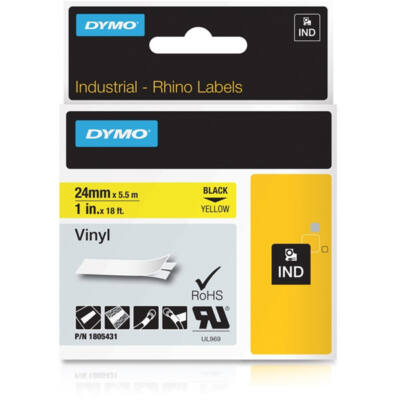 ID1 PVC szalag 24mmx5,5, fekete/sárga