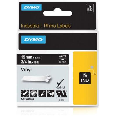 ID1-es PVC szalag 19mmx5,5m fehér/fekete (1805436)