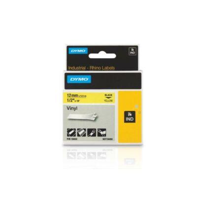ID1-es vinyl szalag 12mmx5,5m fekete/sárga
