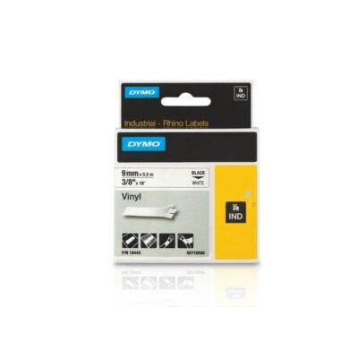 ID1-es vinyl szalag 9mmx5,5m fekete/fehér
