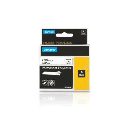 ID1 poliészter szalag 9mmx5,5, fekete/fehér