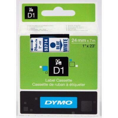 Dymo D1 kazetta 24mmx7m kék/fehér