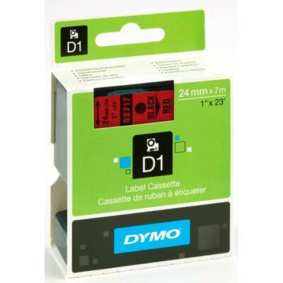 Dymo D1 kazetta 24mmx7m fekete/piros