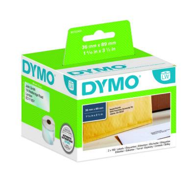 Dymo címetetikett 99013, átlátszó, 89mmx36mm (260db/doboz)