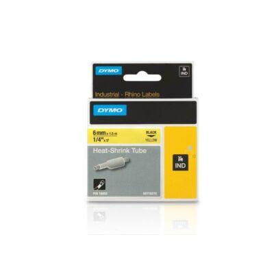 Zsugorcső 6mmx1,5m fekete/sárga (18052, S0718270)