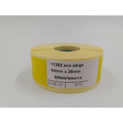 54mmx25mm-es etikettcímke, 500db/tekercs SÁRGA