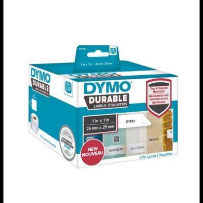 Tartós etikett címke 25mmx25mm, műanyag, 1700db címke/tekercs