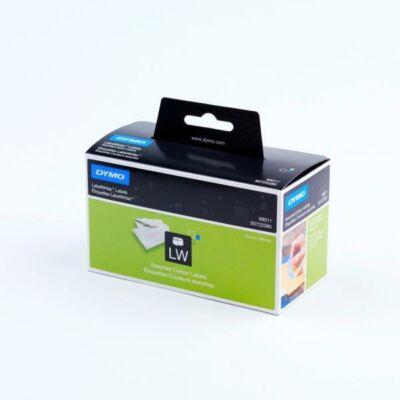 Színes Dymo címetikett, 89mmx28mm (520db/doboz)