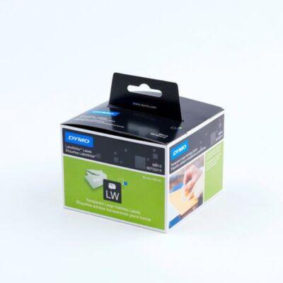 Dymo címetetikett, átlátszó, 89mmx36mm (260db/doboz)