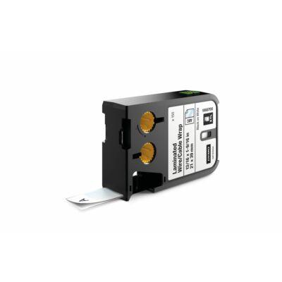 XTL kazetta (21 mm x 39 mm) laminált kábeljelölő, fekete/fehér, 150 db
