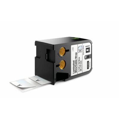 XTL kazetta (38 mm x 21 mm) laminált kábeljelölő, fekete/fehér, 250 db