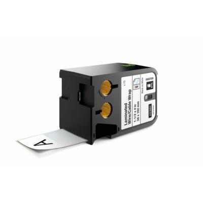 XTL kazetta (38 mm x 102 mm) laminált kábeljelölő, fekete/fehér, 75 db