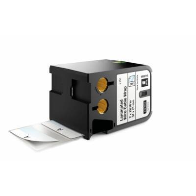 XTL kazetta (51 mm x 21 mm) laminált kábeljelölő, fekete/fehér, 250 db