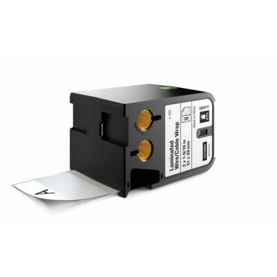 XTL kazetta (51 mm x 39 mm) laminált kábeljelölő, fekete/fehér, 100 db