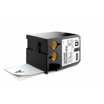 XTL kazetta (51 mm x 102 mm) laminált kábeljelölő, fekete/fehér, 70 db