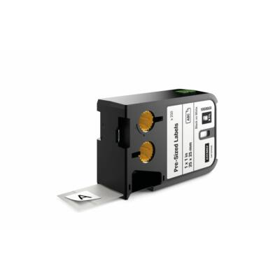 XTL kazetta (25 mm x 25 mm) előre méretezett, fekete/fehér, 250 db