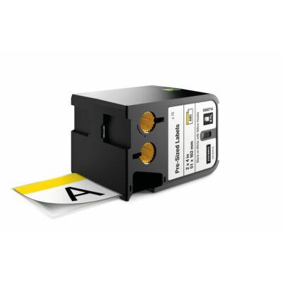 XTL kazetta (51 mm x 102 mm) előre méretezett címke, fekete/fehér fehér/sárga fejrész 70 db