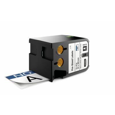 XTL kazetta (51 mm x 102 mm) Előre méretezett címke, fekete/fehér fehér/kék fejrész előrenyomtatott NOTICE felirat 70 db