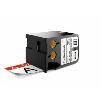 XTL kazetta (51 mm x 102 mm) előre méretezett címke, fekete/fehér fehér/piros fejrész előre nyomtatott DANGER felirat 70 db